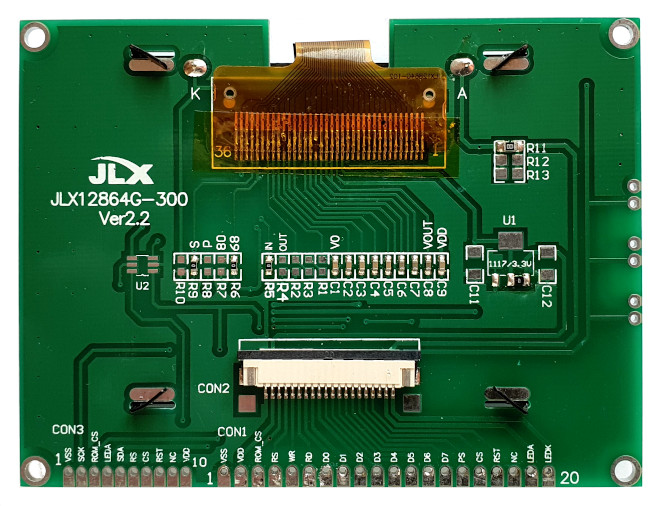 [128 × 64 graphic LCD PCB]