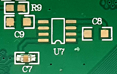 [free space on PCB]